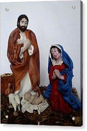Birth Of Jesus Acrylic Print by Natalia Elerdashvili