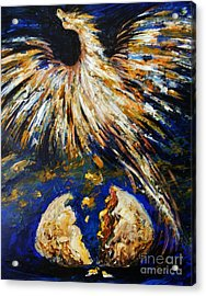 Acrylic Print featuring the painting Birth Of The Phoenix by Karen  Ferrand Carroll