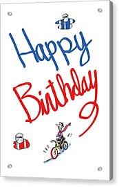 Birthday Bicycle Painter Acrylic Print