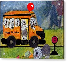 Birthday Bus Acrylic Print