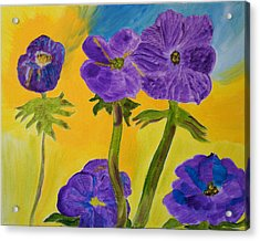 Acrylic Print featuring the painting Birthday Memory by Meryl Goudey