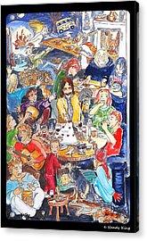 Birthday Acrylic Print by Nandy King