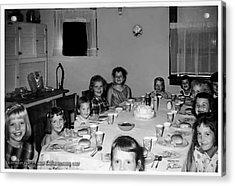 Birthday Party Table Grove Illinois 1957 Acrylic Print