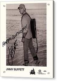 Birthday Wishes From Jimmy Buffett Acrylic Print