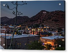 Acrylic Print featuring the photograph Bisbee At Night by Beverly Parks