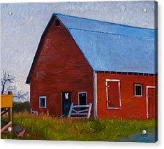 Bishop Barn Acrylic Print by Stacey Neumiller