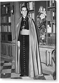 Bishop Fulton J. Sheen Acrylic Print by Fred Palumbo