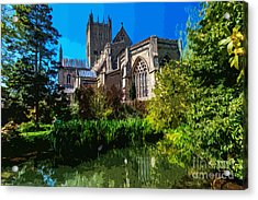Bishops Garden Behind Cathedral Acrylic Print