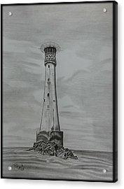 Bishops Rock Lighthouse Acrylic Print