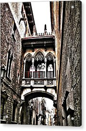 Bishop's Street - Barcelona Acrylic Print
