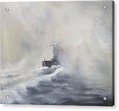 Bismarck Evades Her Pursuers Acrylic Print by Vincent Alexander Booth