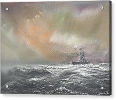 Bismarck Signals Prinz Eugen  Acrylic Print by Vincent Alexander Booth
