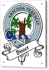 Bisset Clan Badge Acrylic Print by Heraldry