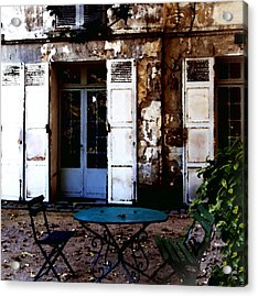 Acrylic Print featuring the photograph Bistro Table In Montmartre by Jacqueline M Lewis