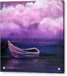 Bitter Berry Sea Acrylic Print by Laura Barbosa