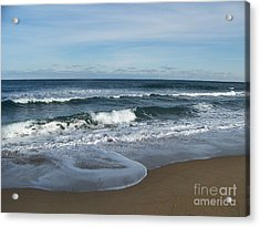 Acrylic Print featuring the photograph Winter Beach  by Eunice Miller