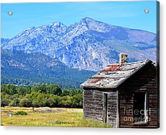 Acrylic Print featuring the photograph Bitterroot Valley Cabin by Joseph J Stevens