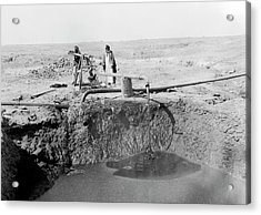 Bitumen Well In Iraq Acrylic Print by Library Of Congress