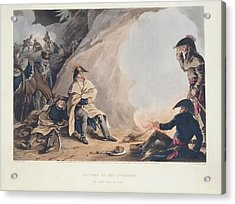 Bivouac In The Pyreness Acrylic Print by British Library