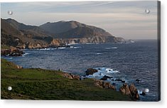 Bixby Bridge And Cows Acrylic Print
