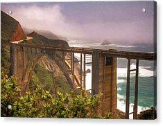 Bixby Bridge At Big Sur Acrylic Print
