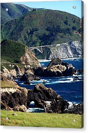 Bixby Bridge Acrylic Print by Christine Drake