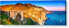 Bixby Creek Arch Bridge Acrylic Print