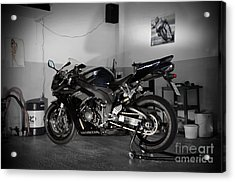 Black 2007 Honda Cbr1000rr Acrylic Print