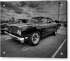 Black '69 Plymouth Road Runner 001 Acrylic Print by Lance Vaughn
