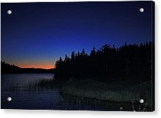 Acrylic Print featuring the photograph Black And Blue Sky by Jason Lees