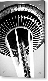 Acrylic Print featuring the photograph Black And White Abstract City Photography...space Needle by Amy Giacomelli