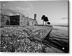 Black And White Castillo De San Marcos View 3 Acrylic Print