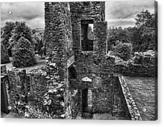 Black And White Castle Acrylic Print
