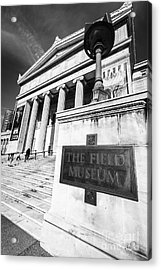 Black And White Chicago Field Museum Acrylic Print