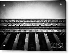 Black And White Chicago Union Station Acrylic Print by Paul Velgos