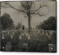 Black And White Confederate Graves Acrylic Print