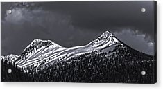 Black And White Deer Mountain  005 Acrylic Print