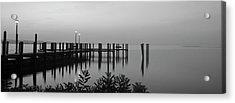 Black And White Dock Acrylic Print