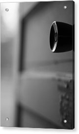 Black And White Door Handle Acrylic Print by Dan Sproul