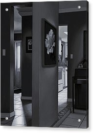 Black And White Foyer Acrylic Print by Tony Chimento