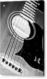 Black And White Harmony Guitar Acrylic Print