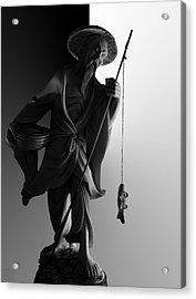 Black And White Ivory Fisherman Acrylic Print by Sean Kirkpatrick