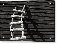Black And White Ladder Acrylic Print