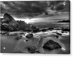 Black And White Laguna Beach Acrylic Print