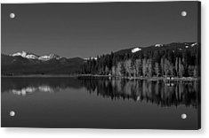 Black And White Lake Tahoe Reflection Acrylic Print