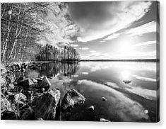Black And White Landscape Acrylic Print