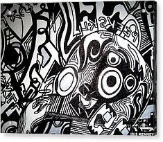 Black And White Line Drawing Acrylic Print by Isis Kenney