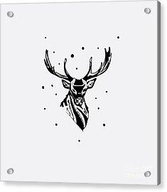 Black And White Monochrome Emblem Acrylic Print