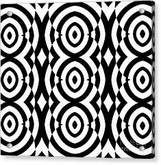 Black And White Op Art Pattern No.249. Acrylic Print by Drinka Mercep