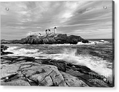 Black And White Painted Seascape Acrylic Print